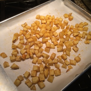 Use parchment, no one likes cleaning sheet pans, do they?